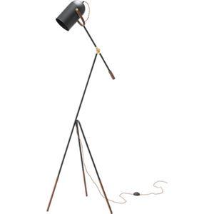 モダン スタンドライト/照明器具 【幅69cm】 スチール アルミ 電球付き 〔リビング ダイニング 寝室 ベッドルーム〕