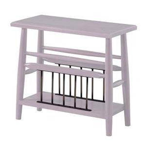 サイドテーブル/ミニテーブル 【ホワイト 幅50cm】 木製 棚板1枚付き 『ブリジット』 〔リビング ダイニング〕 - 拡大画像