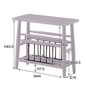 ブリジット サイドテーブル ホワイト 【幅:50cm】 天然木 PM-313WH