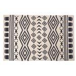 エスニック調 ラグマット/絨毯 【130×190cm TTR-170B】 長方形 綿100% インド製 収納袋付き 〔リビング ダイニング〕