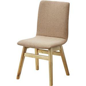 ダイニングチェア/食卓椅子 1脚 【ベージュ】 幅43cm 木製 ウレタン塗装 ポリエステル 〔キッチン 台所 店舗〕