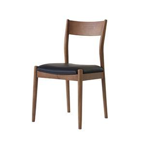 ダイニングチェア/食卓椅子 【2脚セット 幅48.5×奥行51×高さ84.5cm】 アッシュ 合皮/合成皮革 『ブリオチェア』 〔リビング〕 - 拡大画像