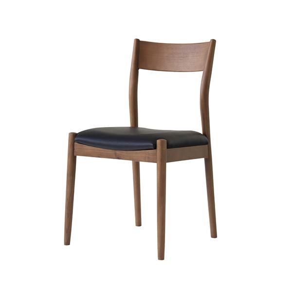 ダイニングチェア/食卓椅子 【2脚セット 幅48.5×奥行51×高さ84.5cm】 アッシュ 合皮/合成皮革 『ブリオチェア』 〔リビング〕