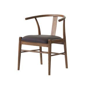 ダイニングチェア/食卓椅子 【幅55×奥行52.5×高さ71cm】 アッシュ 合皮/合成皮革 『レントチェア』 〔リビング 店舗〕 - 拡大画像