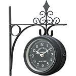 ウォールクロック/壁掛け時計 【S ブラック】 幅25cm×奥行9cm×高さ30cm レトロ調 〔インテリア用品 ディスプレイ用品〕