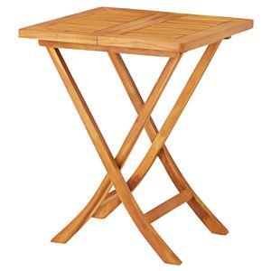 折りたたみテーブル/ローテーブル 【幅60cm×奥行60cm×高さ75cm】 木製 オイル仕上げ 〔リビング ダイニング〕 - 拡大画像