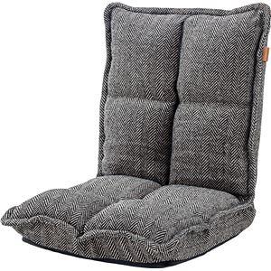 座椅子/パーソナルチェア 【ブラウン】 幅38cm×奥行43/52cm×高さ23/47cm×座面高13cm 折りたたみ式 『カックンリクライナー』 - 拡大画像