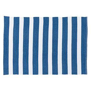 モダン ラグマット/絨毯 【ブルー 幅90cm×奥行130cm】 長方形 〔リビング ダイニング キッチン 廊下〕 - 拡大画像