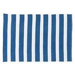 ラグ ブルー W90×D130cm