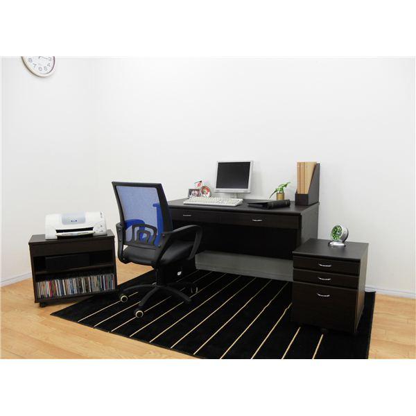システムパソコンデスク/学習机 【ブラウン】 デスク天板幅120cm ラック/チェスト付 【デスク・ラック:組立/チェスト:完成品】