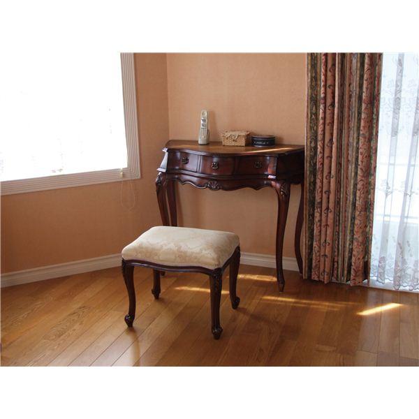 アンティーク調猫足スツール/腰掛椅子 【ブラウン】 木製 『フランシスカ』 高さ45cm 【完成品】
