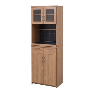 ナチュラル レンジボード/キッチン収納 【幅60cm】 スリム スライド棚付き 『北欧キッチンシリーズ Keittio』 - 拡大画像