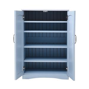 フレンチカントリー家具 キャビネット 幅60 フレンチスタイル ブルー&ホワイト