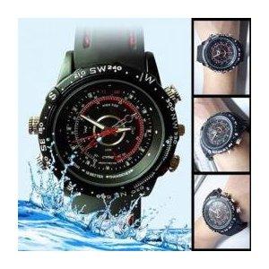 【防犯用】【小型カメラ】腕時計型防水ビデオカメラ ハイビジョン撮影対応 内蔵メモリ4GB WT-VCW-4GB - 拡大画像