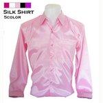 本物シルクシャツ/ピンクXLサイズ