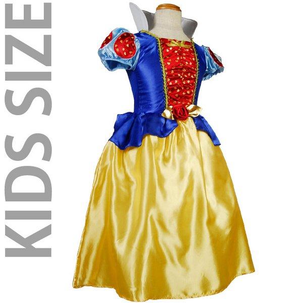 KIDS☆ハート柄の白雪姫ドレスコスチューム/S