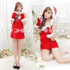 赤 サンタ衣装 クリスマス/コスプレ - 拡大画像