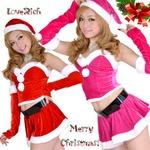 超セクシー 0906 森の妖精サンタコスチューム5点セットクリスマス 赤