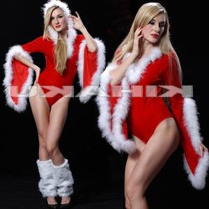 セクシー カッコイイ パンツ一体型 サンタ衣装 クリスマス コスプレ - 拡大画像