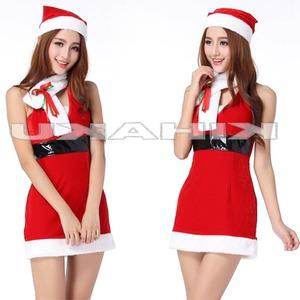 ベーシック セクシー マフラー サンタ衣装 クリスマス コスプレ - 拡大画像