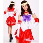 美少女戦士 セーラームーン レッド セーラー戦士 コスプレ衣装 ハロウィン