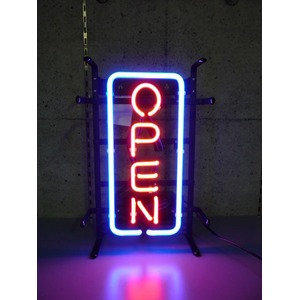 ネオンサイン 縦長オープン S (ネオン管 看板 アメリカン雑貨 ・NEON SIGN・ネオンサイン)