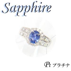 Pt900 プラチナ リング サファイア & ダイヤモンド 9月誕生石/11号 - 拡大画像