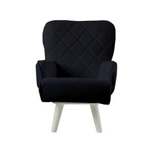 Liloudecoco リルデココ 回転ローチェアー(ポケット付)ブラック 姫系 キルティング 椅子 一人掛け ソファー 高座椅子 - 拡大画像