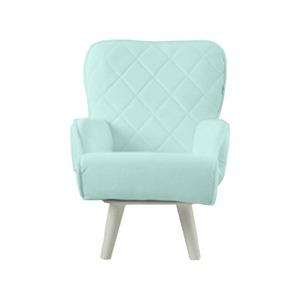 Liloudecoco リルデココ 回転ローチェアー(ポケット付)ミント 姫系 キルティング 椅子 一人掛け ソファー 高座椅子 - 拡大画像