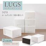LUGS クローゼット収納ボックス1段 ダークブラウン 【6個組】 収納 箱 衣装ケース BOX セット販売 すき間収納
