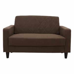 LUGS ラグス 二人掛けソファー シンプルデザイン キルティング ブラウン