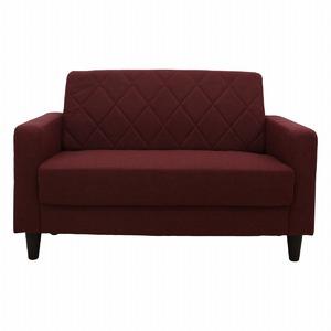 LUGS ラグス 二人掛けソファー シンプルデザイン キルティング レッド
