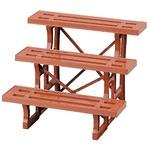 日本製 フラワースタンド ヒナ3段600 ブラウン 1台 60cm幅 園芸 ガーデニング スタンド プランター置き プランタースタンド
