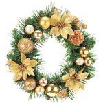 【クリスマス】30CM ポインセチアリース GO CBD-051