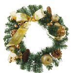【クリスマス】40cmゴールドリボンリース CBD-142