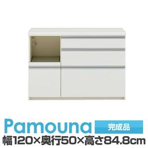 パモウナ 食器棚 IK カウンター 【幅120×奥行50×高さ84.8cm】 パールホワイト IKL-1200R【下台のみ】 【完成品】 日本製