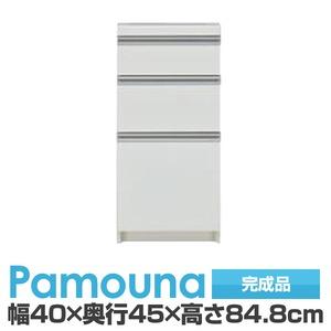 パモウナ 食器棚 IK カウンター 【幅40×奥行45×高さ84.8cm】 パールホワイト IK-S400K【下台のみ】 【完成品】 日本製