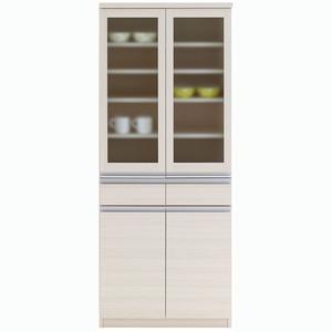フナモコ 食器棚 【幅73.2×高さ180cm】 ホワイトウッド EKS-73G