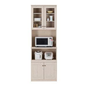 ユーアイ NEO MARGOTT(マーゴット) 食器棚70 (オープンタイプ) ホワイト木目 K-700HOP - 拡大画像