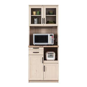 ユーアイ NEO MARCH(マーチ) 食器棚70 天板天然パイン材 K-700HOP