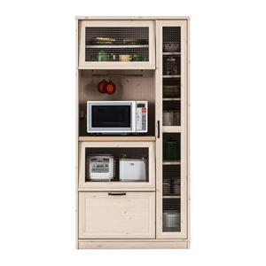 ユーアイ NEO MARCH(マーチ) 食器棚90 天板天然パイン材 K-900HOP
