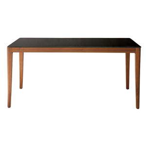 あずま工芸 ダイニングテーブル 幅150cmガラス天板 ダークブラウン【2梱包】 GDT-7680