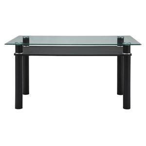 あずま工芸 ダイニングテーブル ガラス天板 幅140cm 【2梱包】 GDT-7709