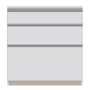 パモウナ 食器棚VI 【幅80×奥行44.5×高さ84.8cm】 VI-S800K 【下台のみ】 パールホワイト - 拡大画像