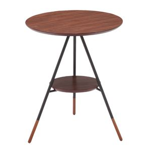 あずま工芸 サイドテーブル 幅41.5×高さ50cm ダークブラウン SST-250