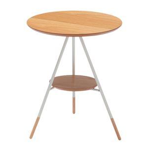 あずま工芸 サイドテーブル 幅41.5×高さ50cm ナチュラル SST-256