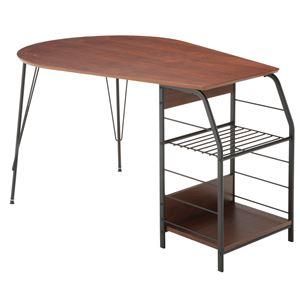 あずま工芸 テーブル 幅128cm スチール脚 TDT-1130 - 拡大画像