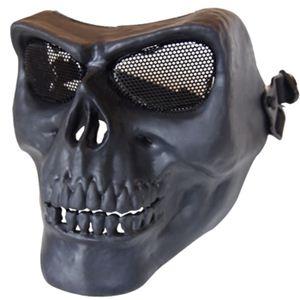 フェイスマスク スカルフェイスガード鬼の顔 黒 K-179 - 拡大画像