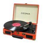 CICONIA クラシカルレコードプレーヤー TE-1907OR オレンジ