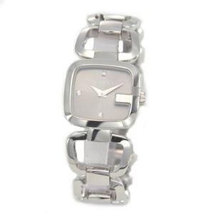 Gucci(グッチ) G-GUCCI コレクション Gのイニシャルがモチーフ。インデックスにシェルとダイヤをあしらったラグジュアリーなレディス・ブレスウオッチ 【腕時計】 YA125503 - 拡大画像